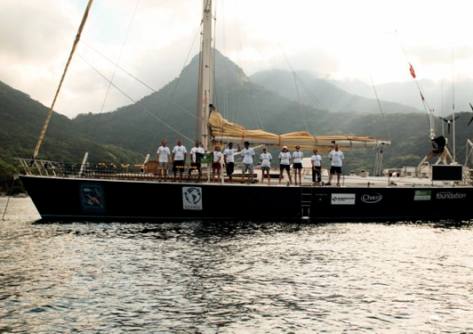 The Sea Dragon, a 72' Steel Hull sailing research vessel